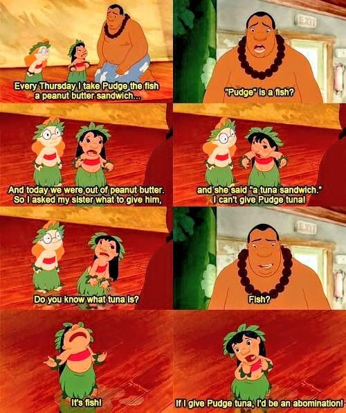 I was literally Lilo as a kid