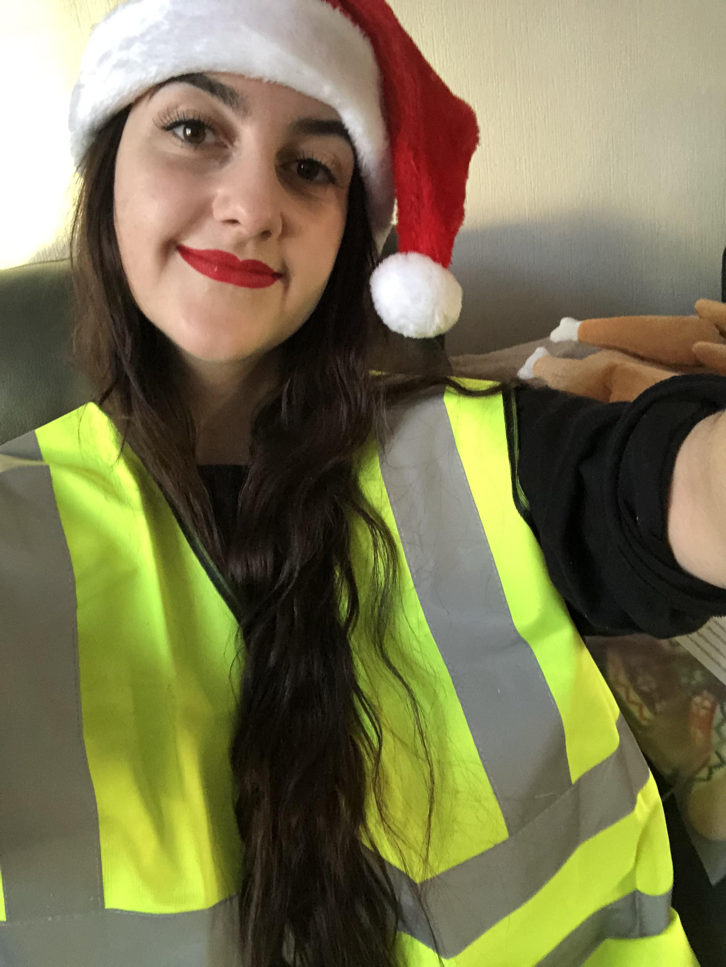 Dad chose a present for me this year without mum's help. Merry Christmas from me and my new XL-sized high-vis...