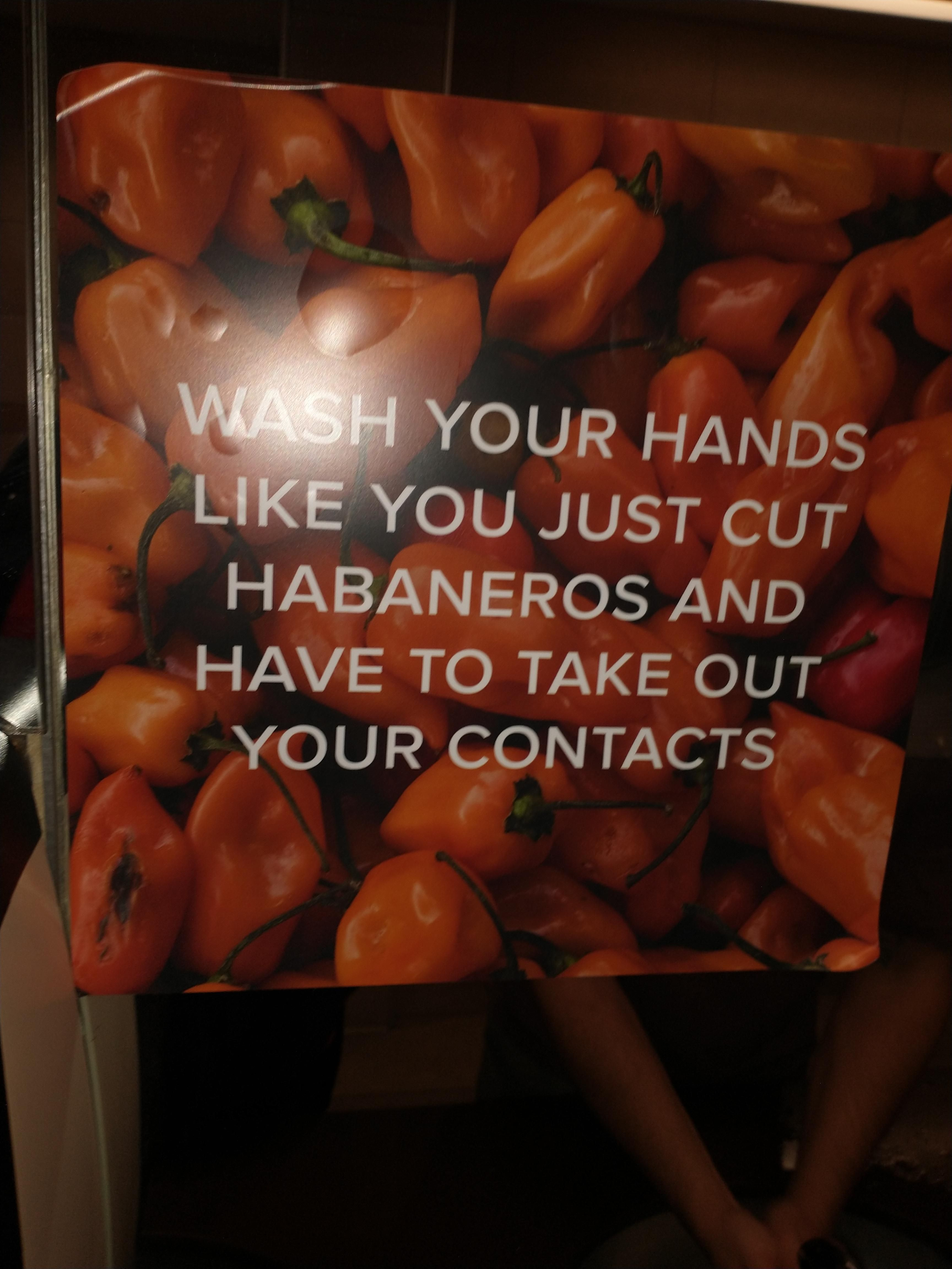 I found this sign in a public restroom and I thought it was funny. Sorry for the bad lighting.