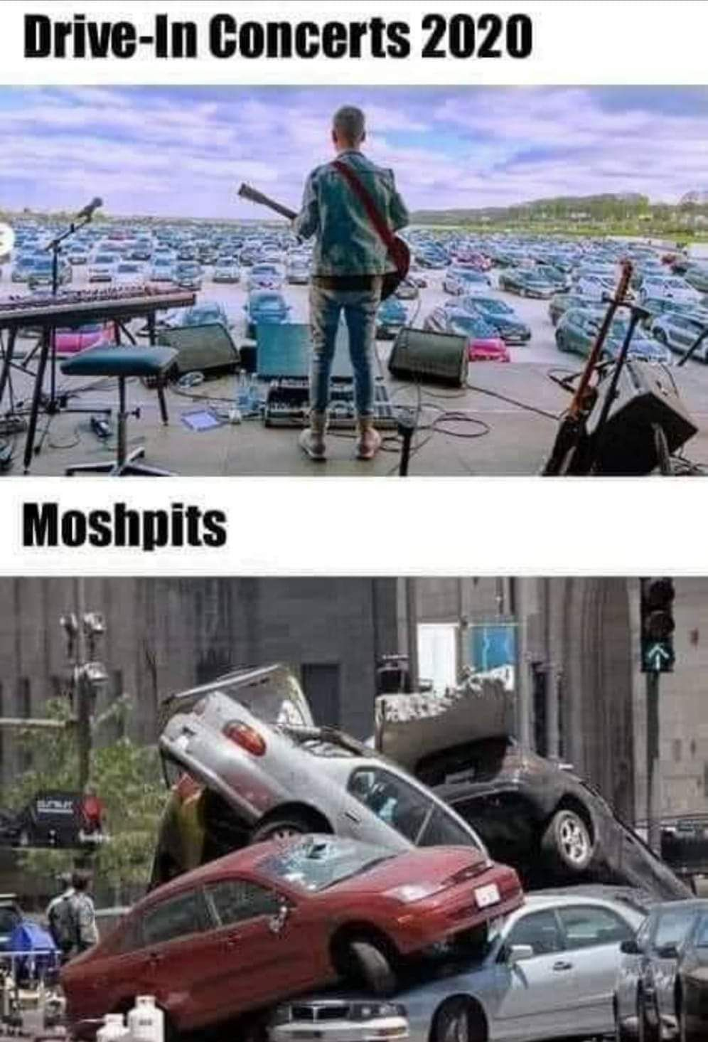 This is why moshpits in drive-in concerts don't work.