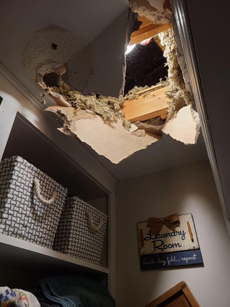 Capped off 2020 by falling through the ceiling....what a year!!