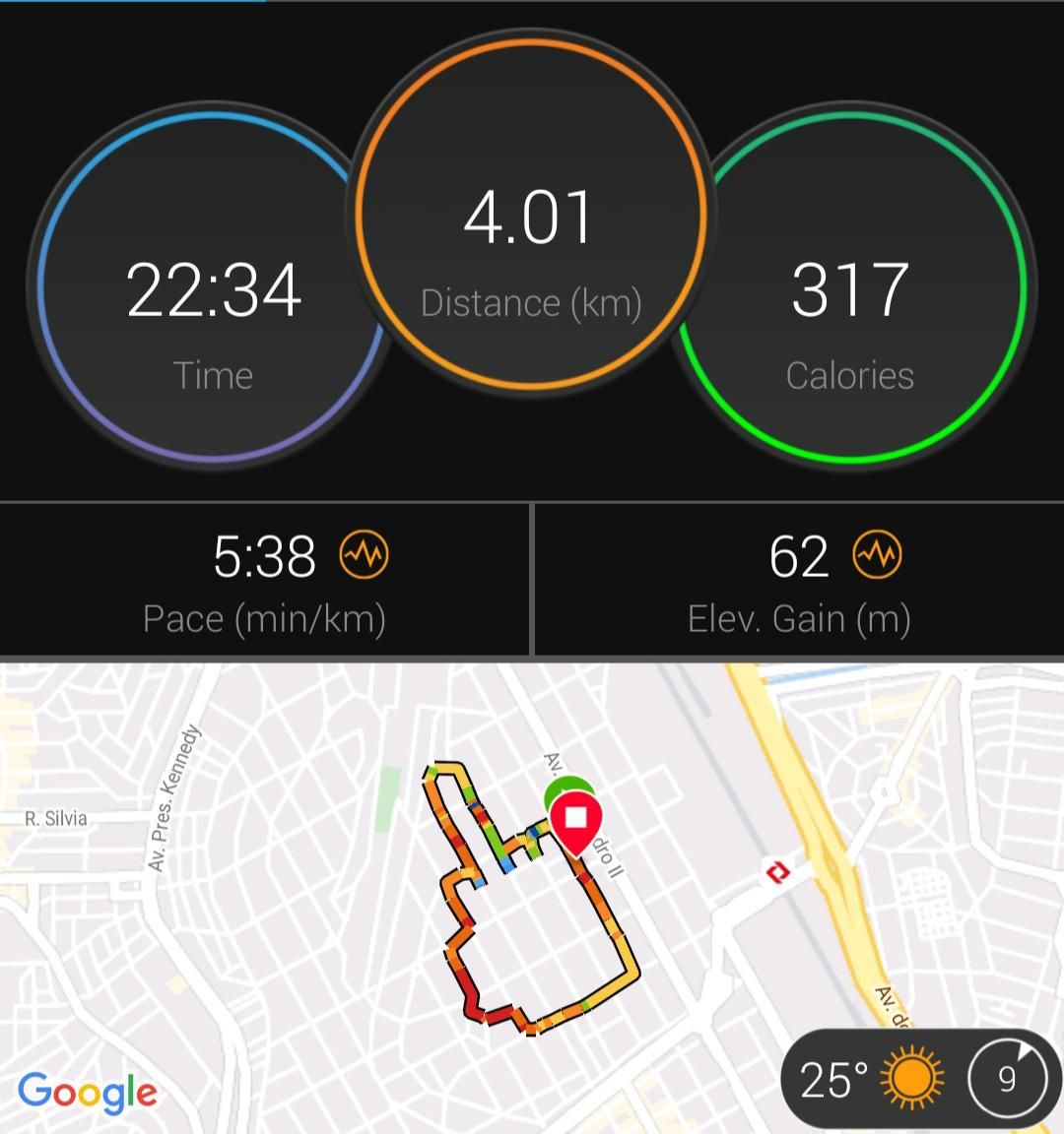 My first run of 2021.