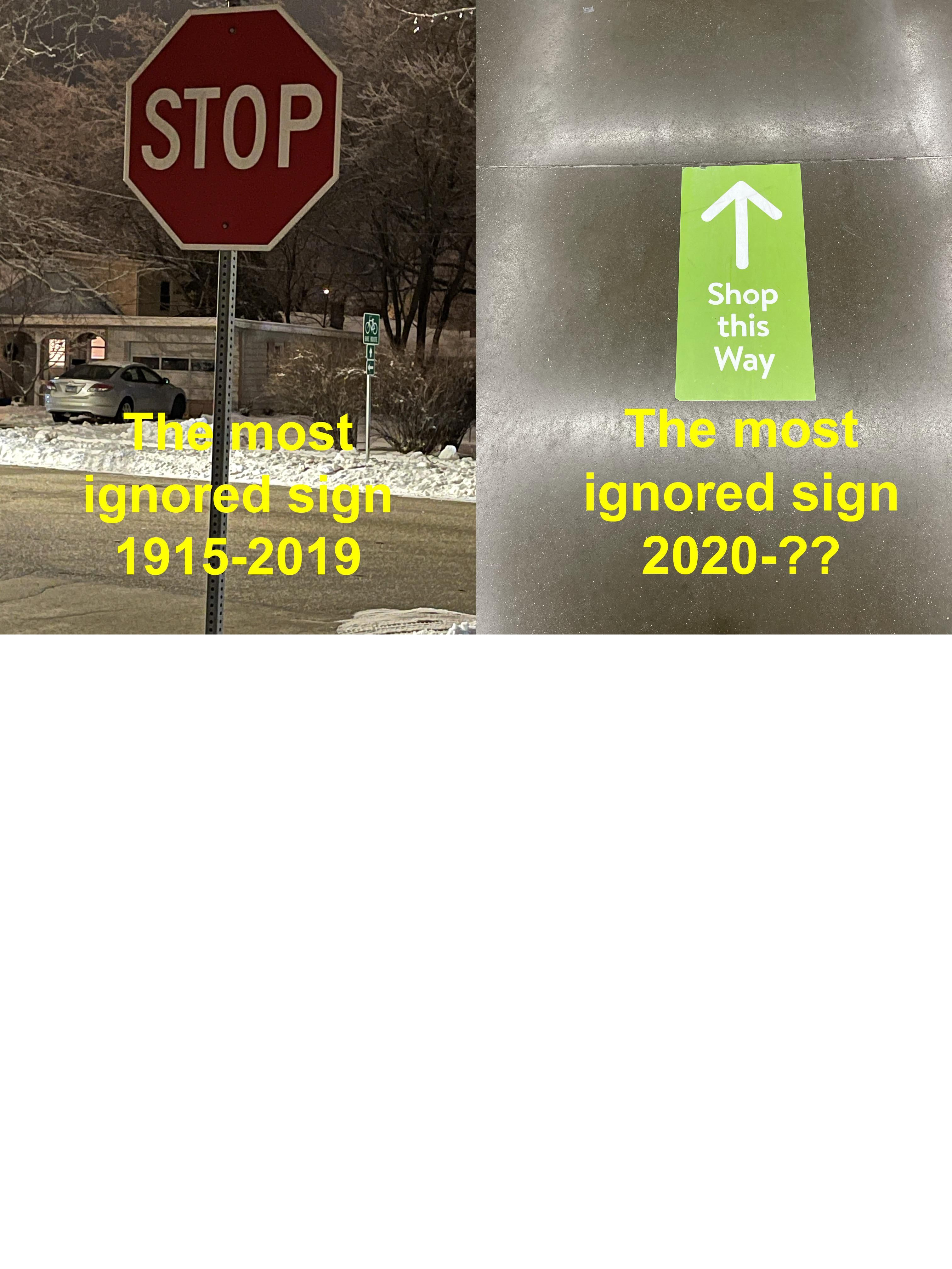 Ignoring signs...
