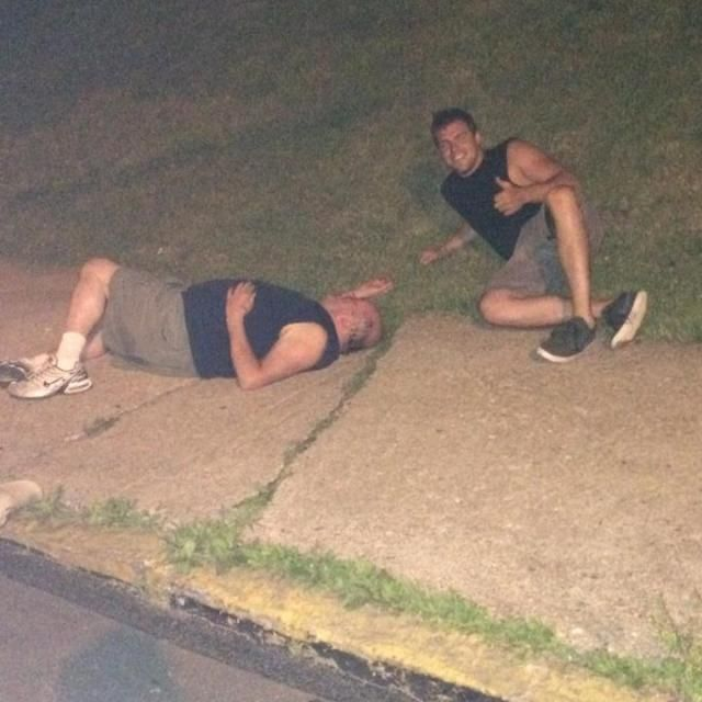Once I was drunk and found even a drunker version of my future self passed out