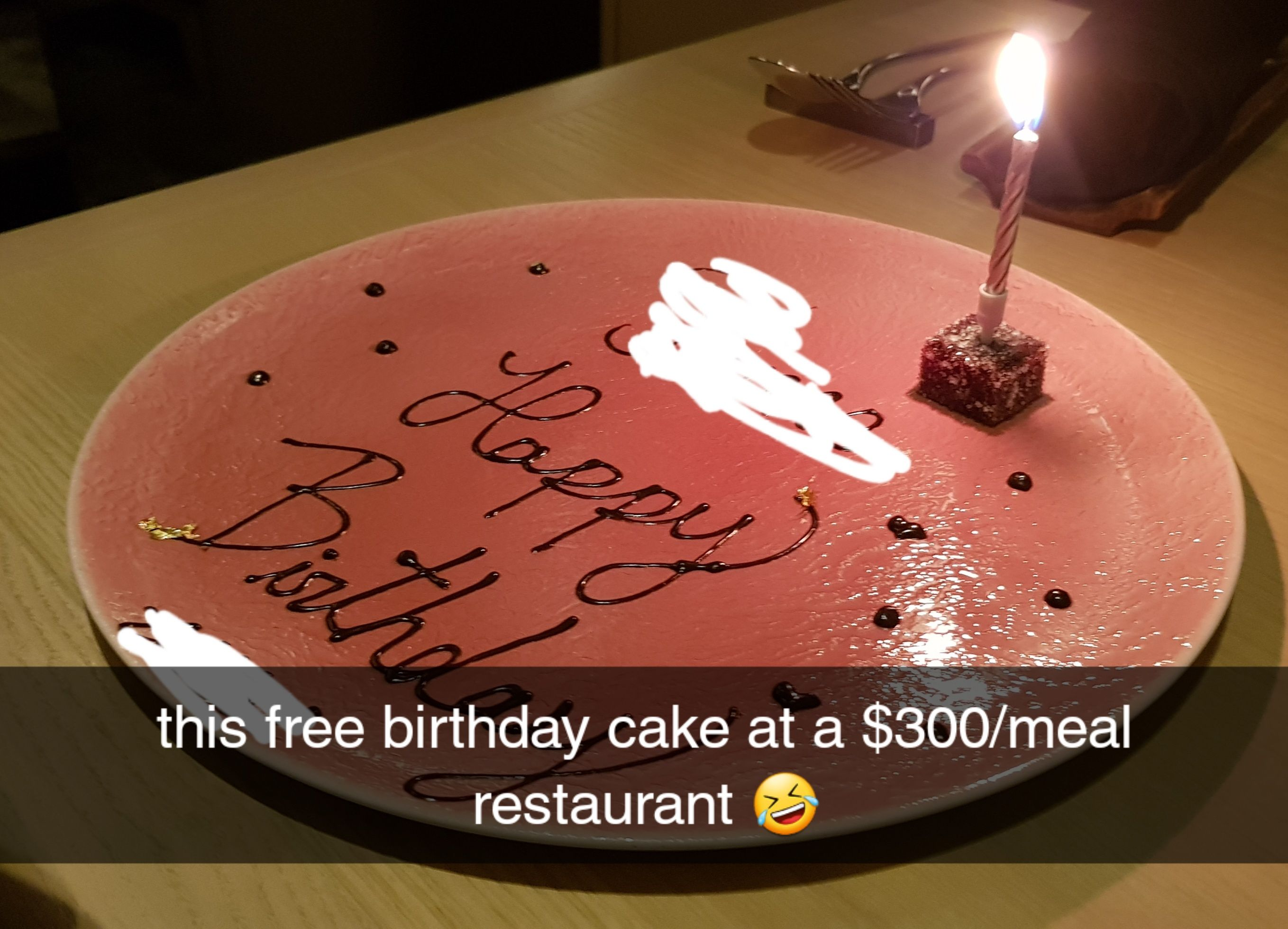 it's free, cant complain