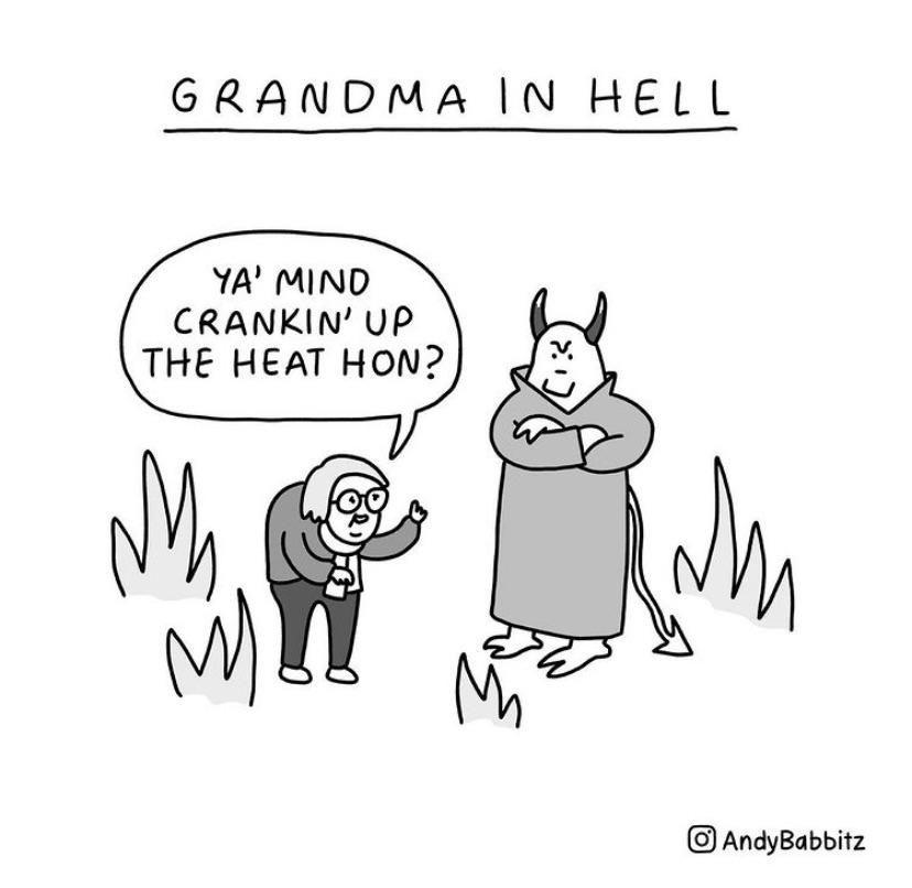 Grandma in hell