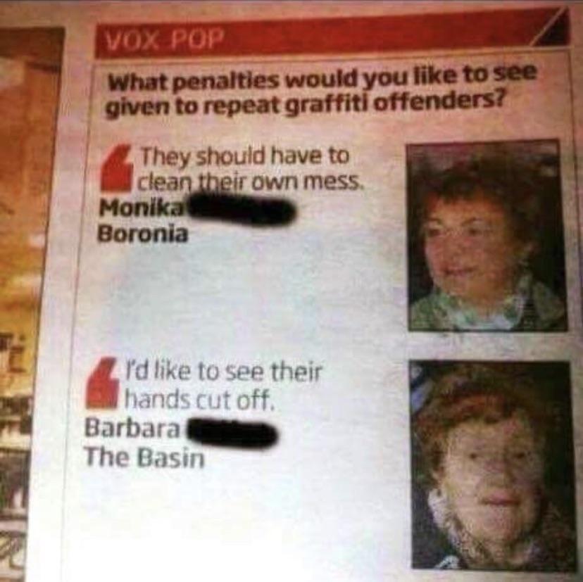 Barbara's not messing around