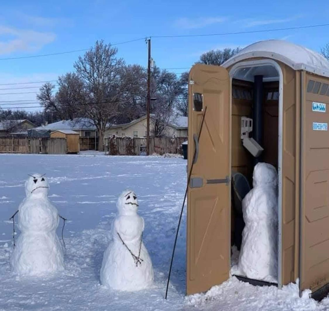 Line for port-a-potty in Lake Tahoe!