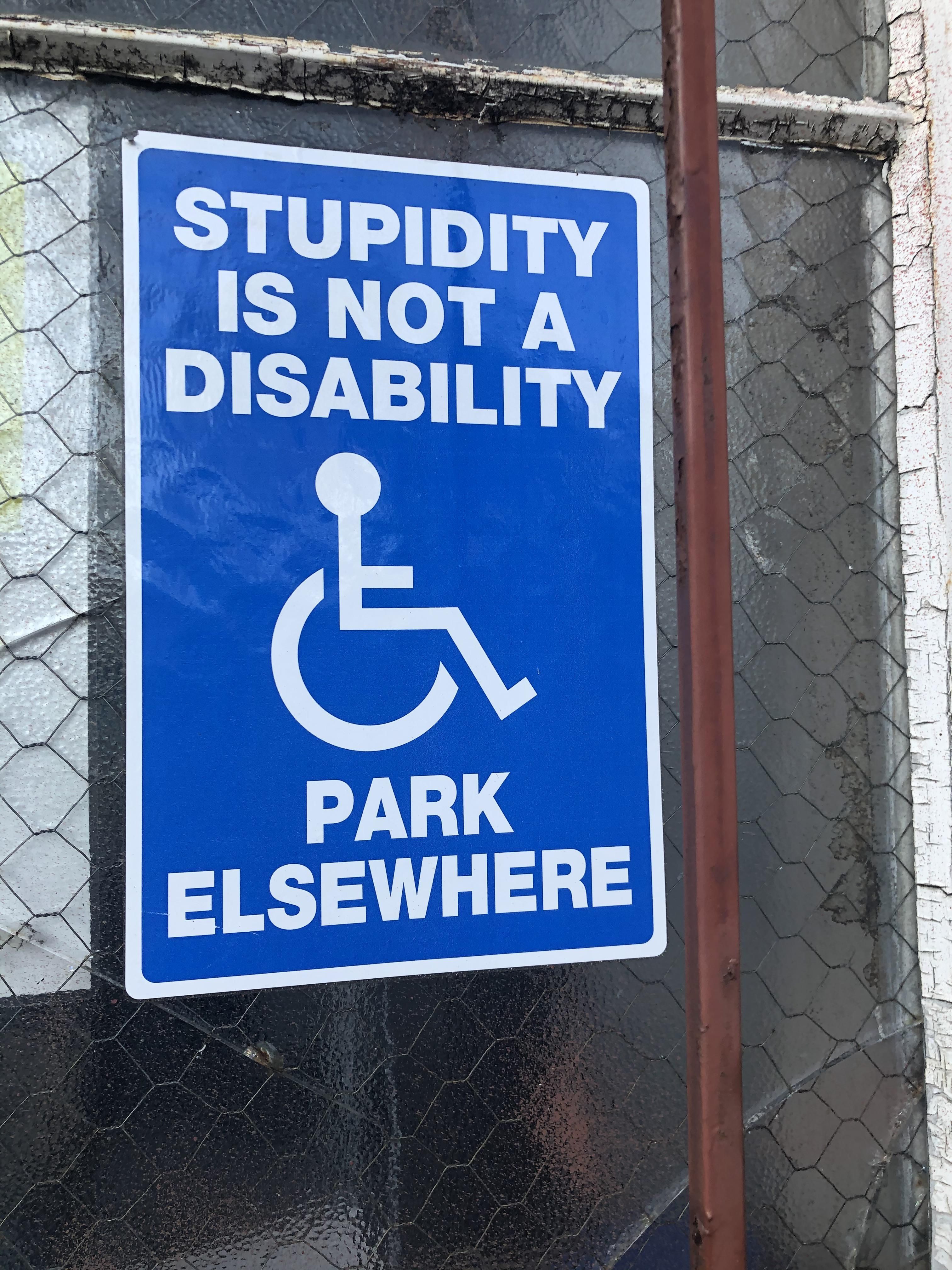 Saw this sign in a car park today