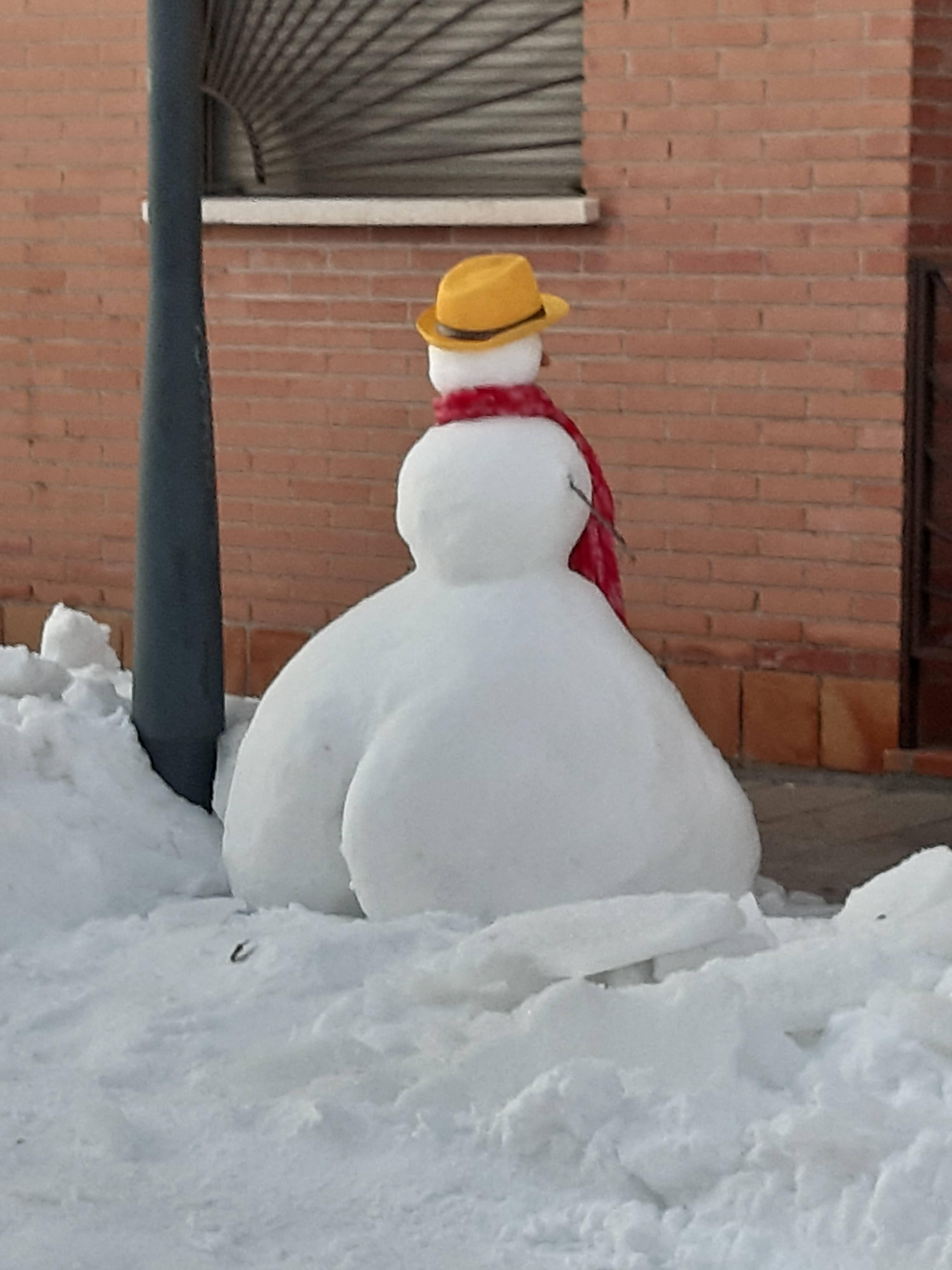 Thick snowman