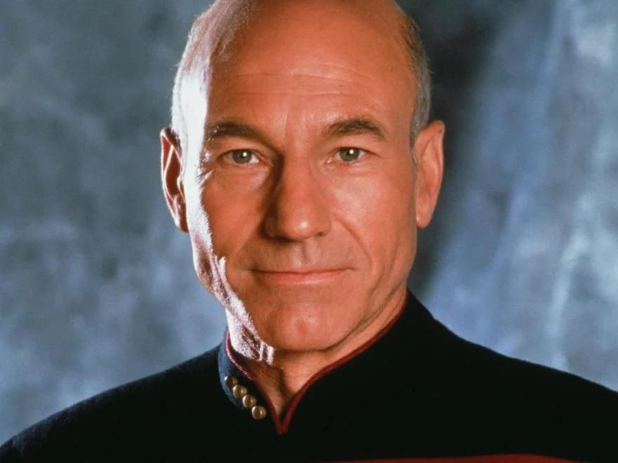 GIF of Patrick Stewart Aging Over 30 Years