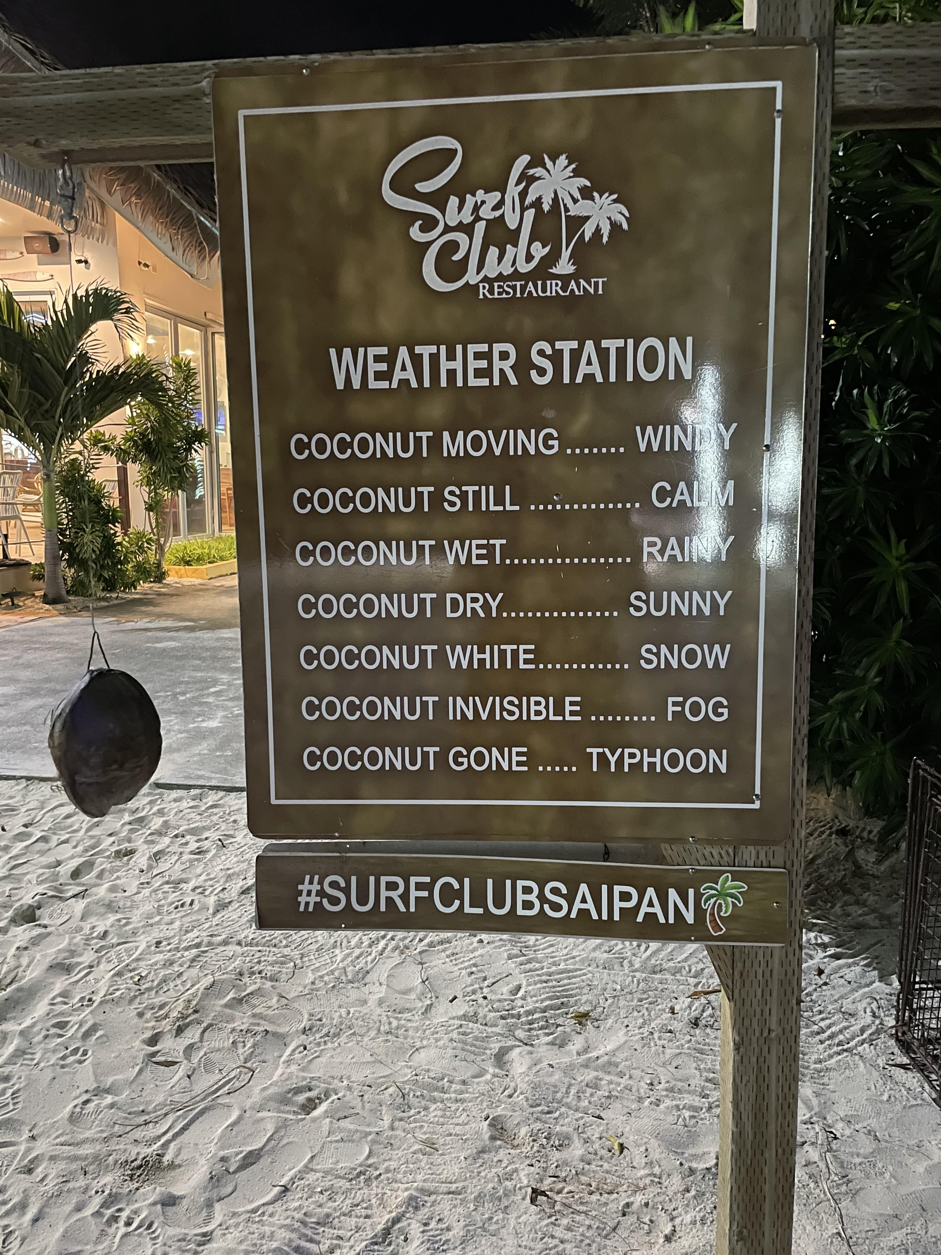"""My island's """"accurate"""" weather system"""