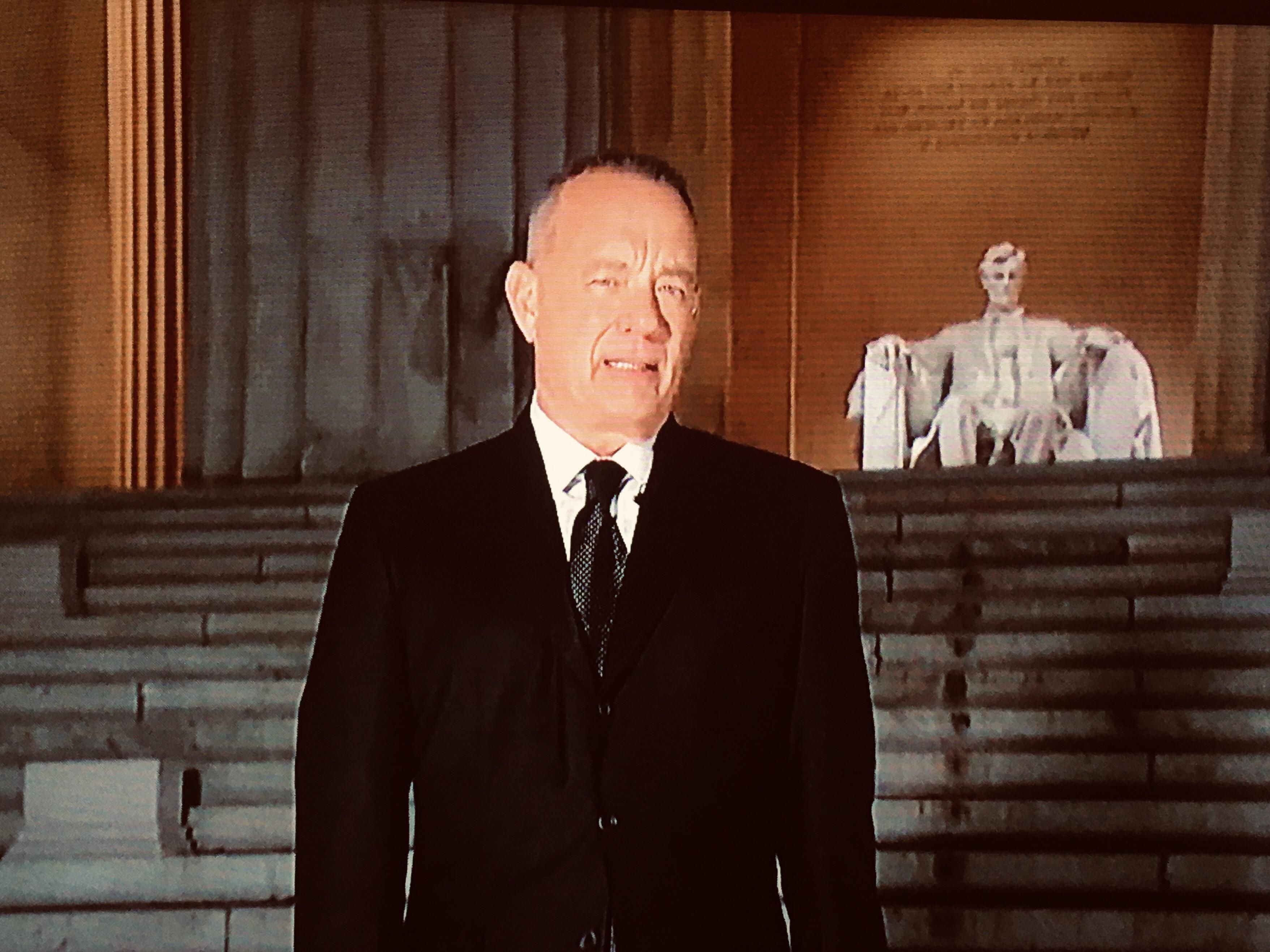 So glad Forrest Gump got to go back to the Lincoln Memorial.