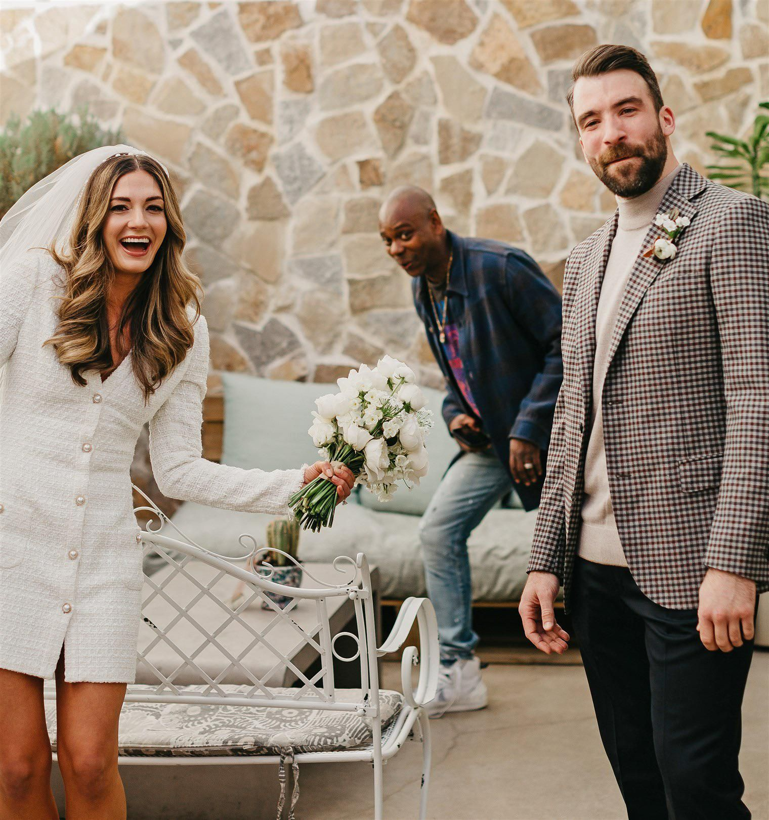 Dave Chappelle photobombs newlyweds' first photo as husband and wife
