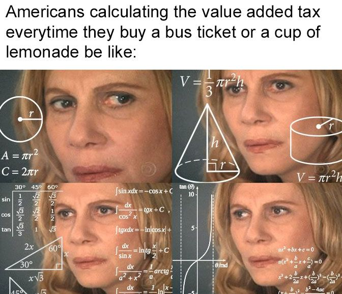 I heard they don't include tax in their pricetags so this is now my headcannon.