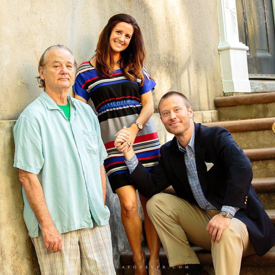 Bill Murray disrupts couples engagement photos