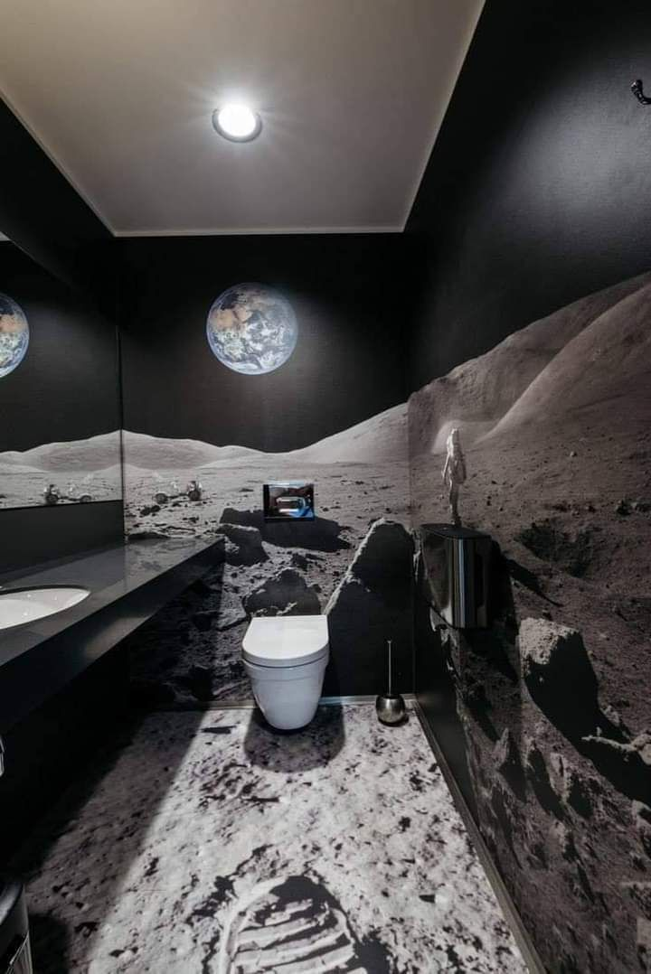 A washroom in the moon.
