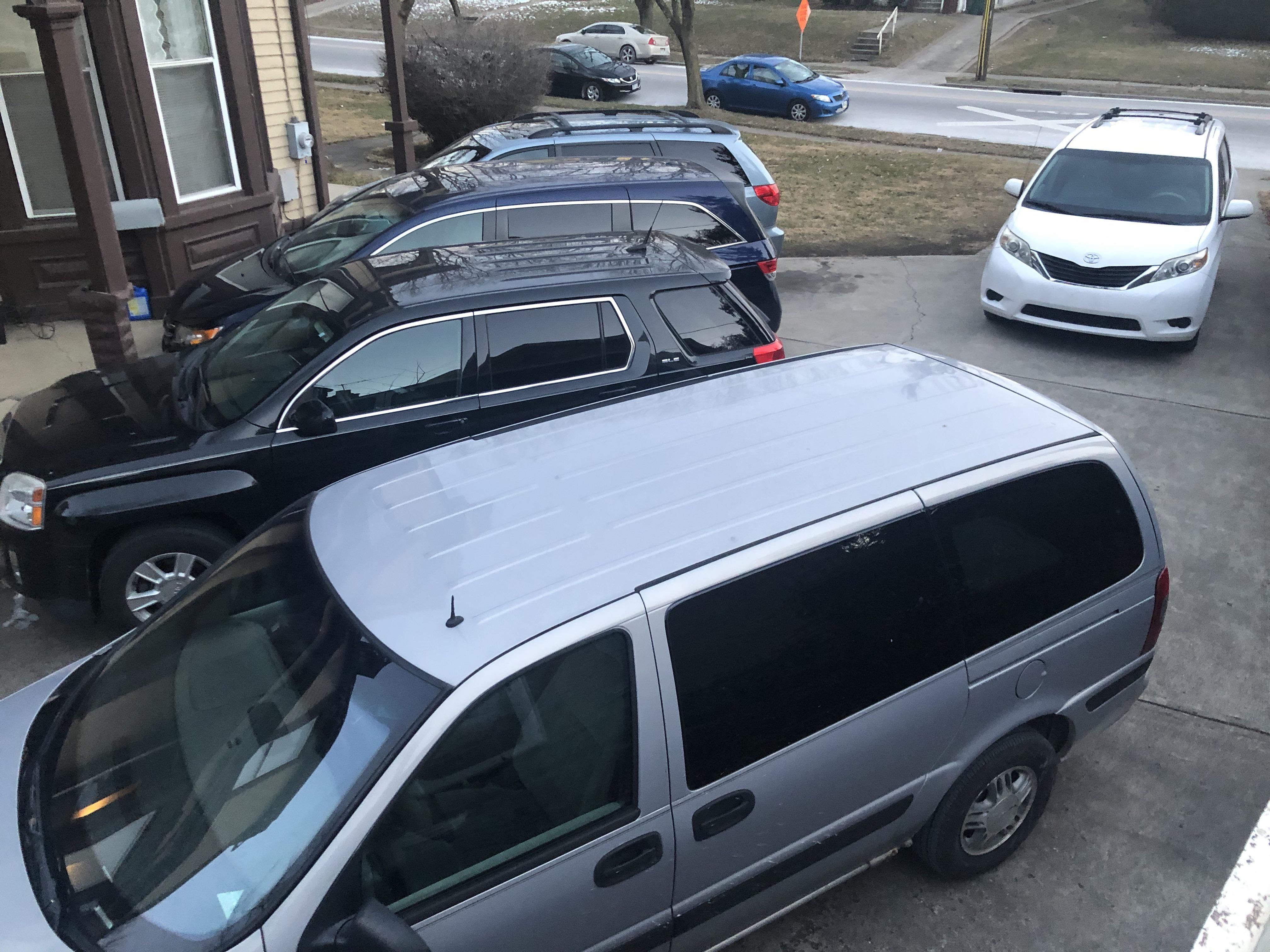 When all of their adult kids come to visit, my parents driveway looks like a used mini van dealership