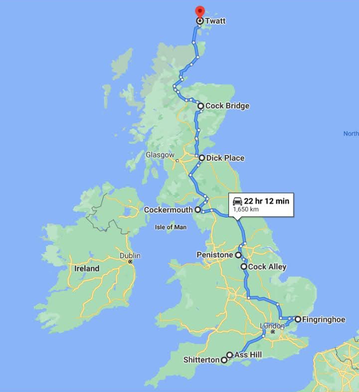 If I ever travel across Britain this will be my route