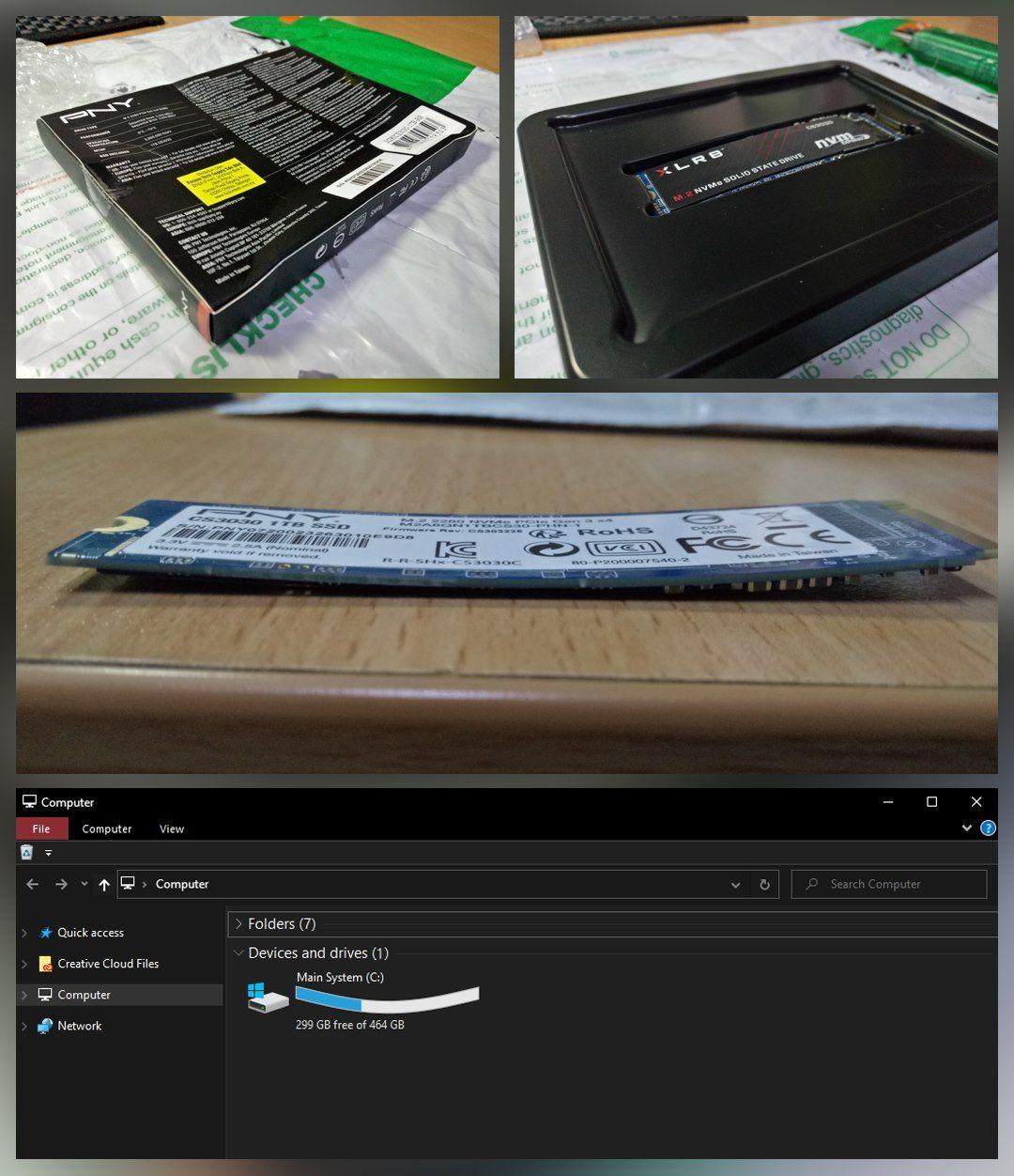 Flexing my new SSD