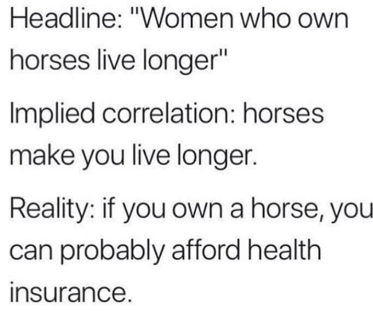That's why horse girls are always rich