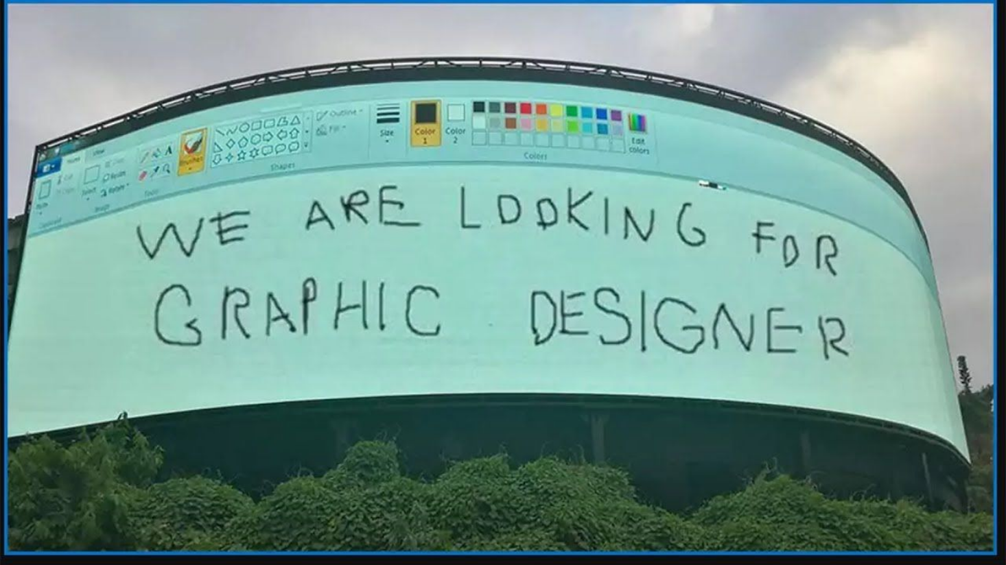 this comedian looking for a graphic designer
