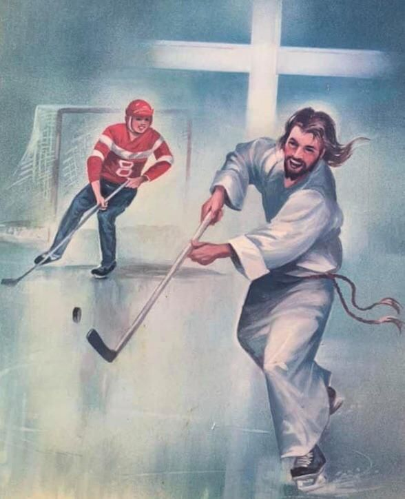 Hockey Jesus. Thrift Store Find.