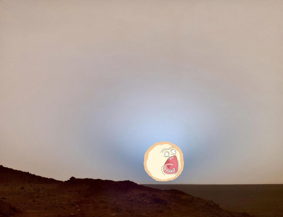 Sunset on Mars but in High Res like you deserve
