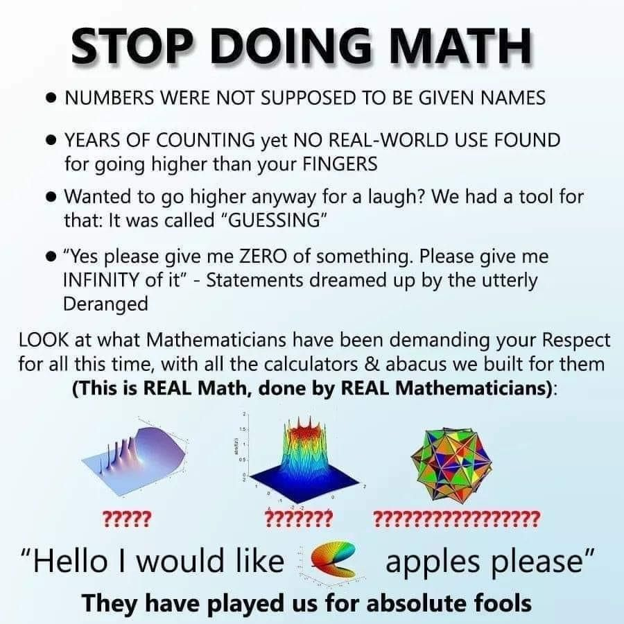 Further proof that math is a hoax