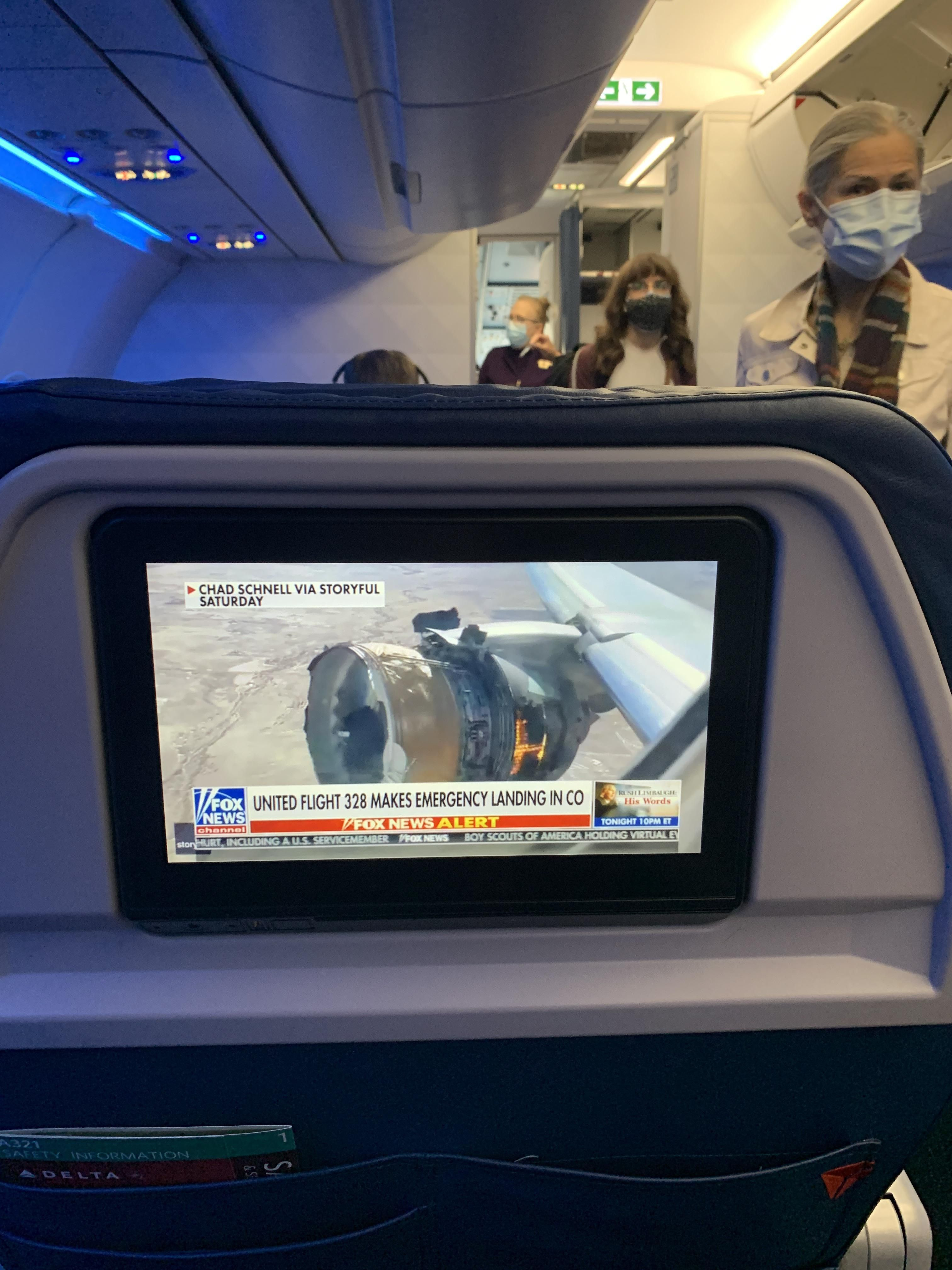 What I see on the news while boarding my flight today...