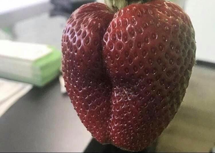 Strawberry wearing yoga pants