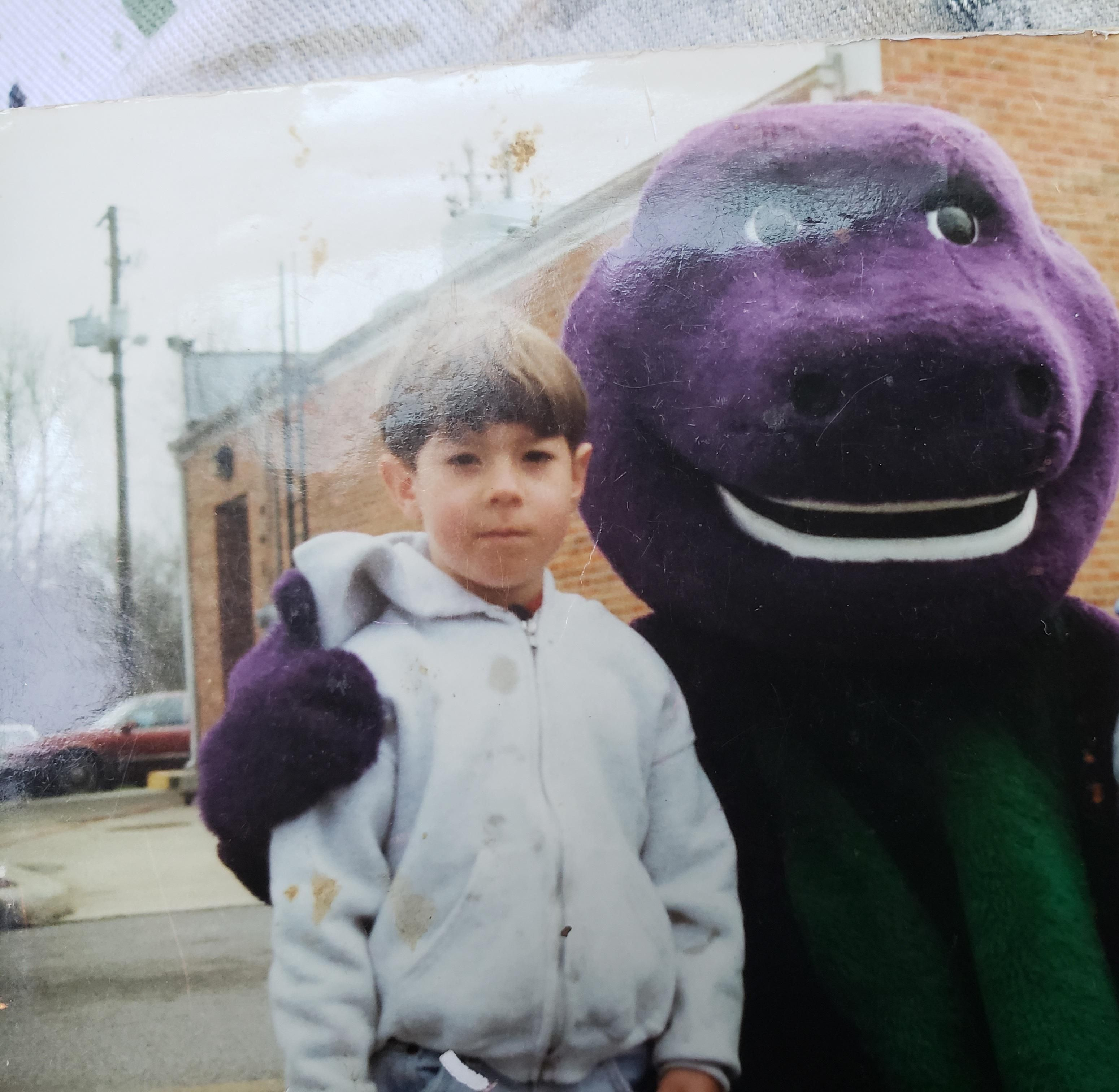 This was the day I found out that Barney was just a guy in a costume.