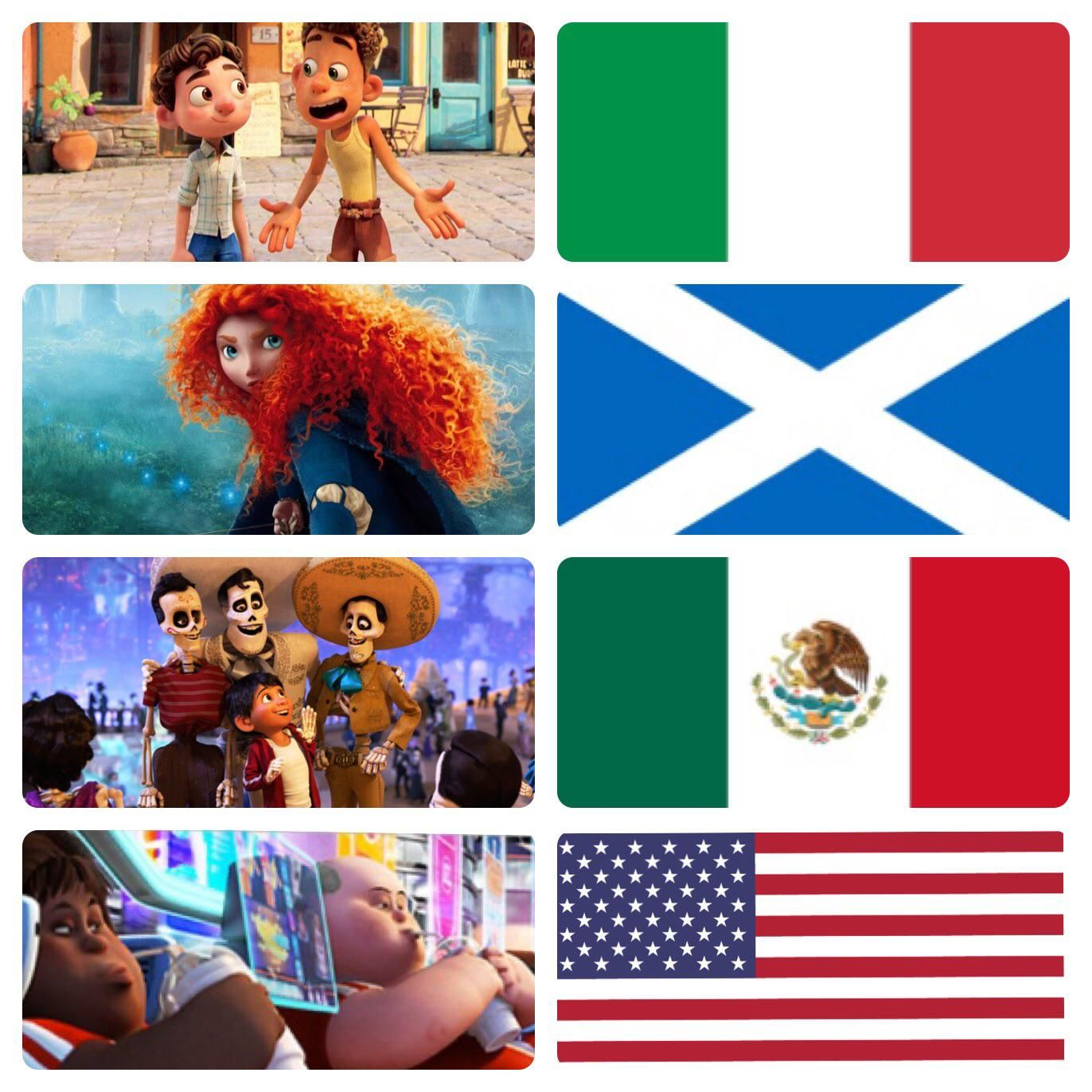 Cultural appreciation in Pixar films