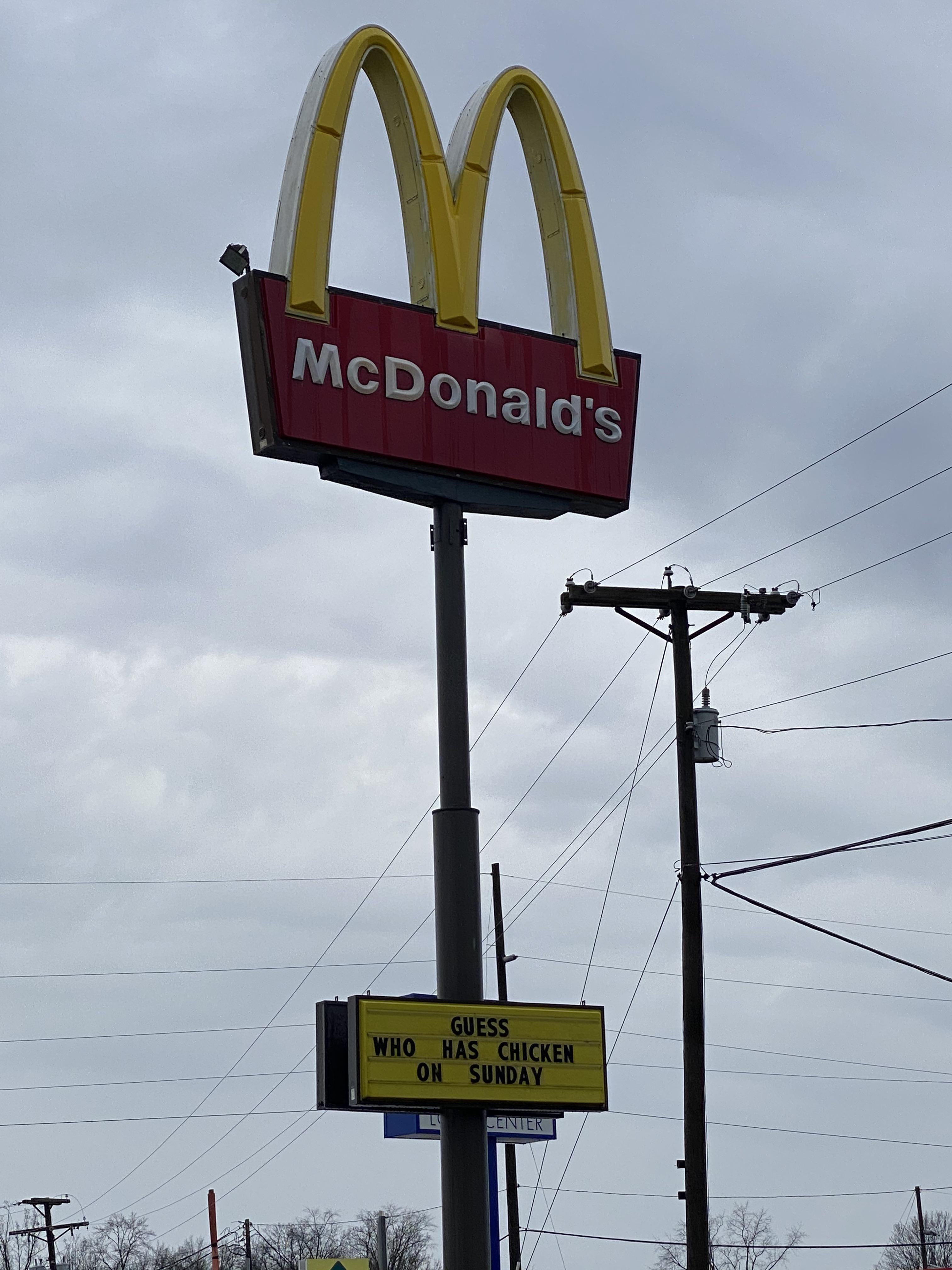 McDonald's throwing shade!