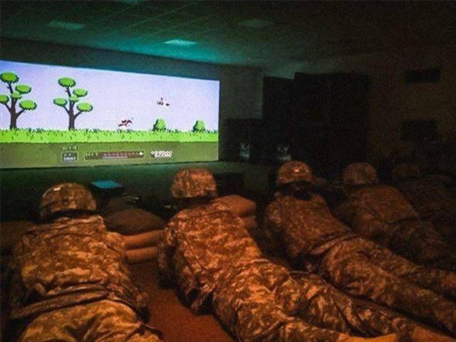 Rare photo of US Army using the latest technology