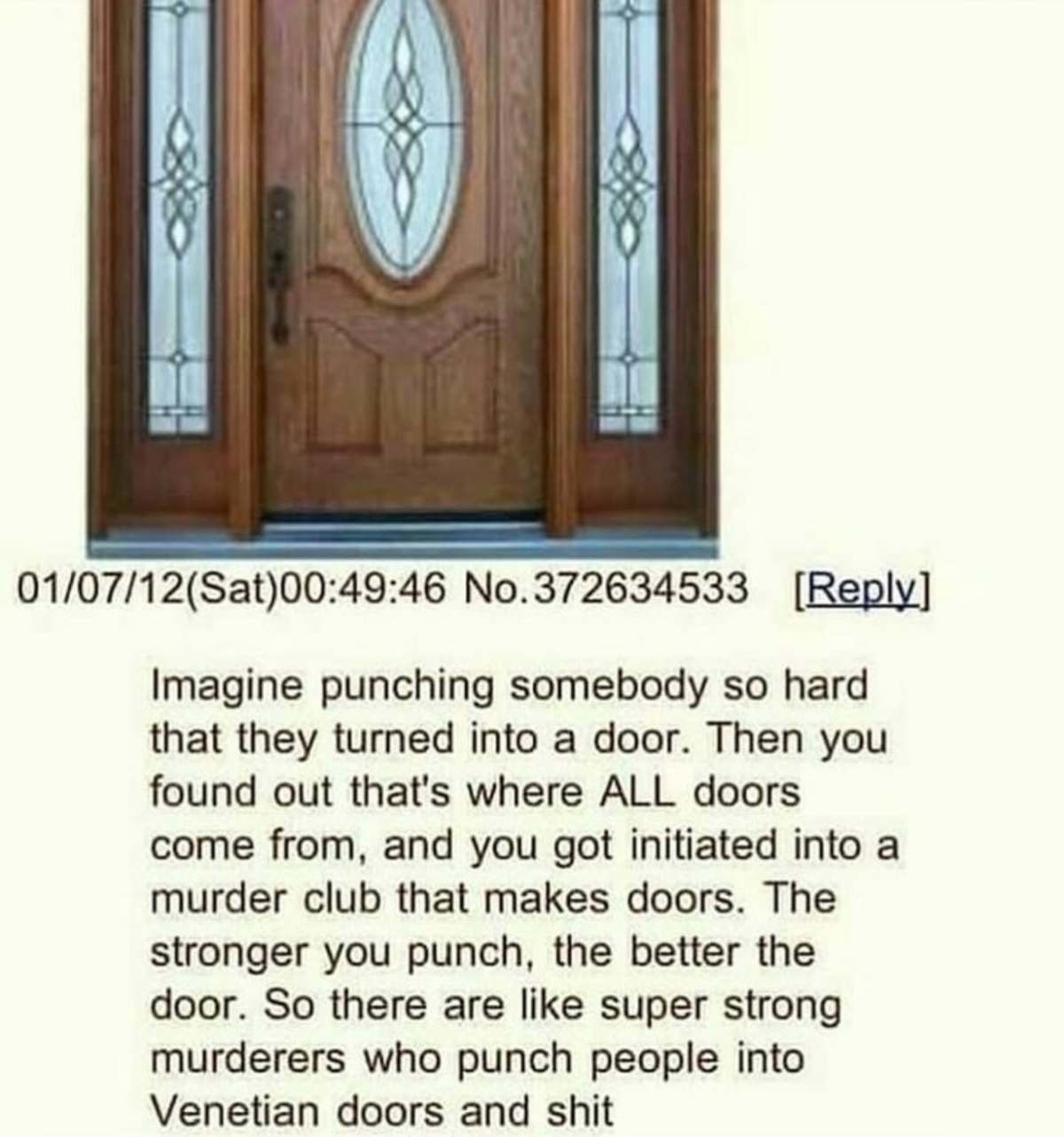 Blowing the case open on big door