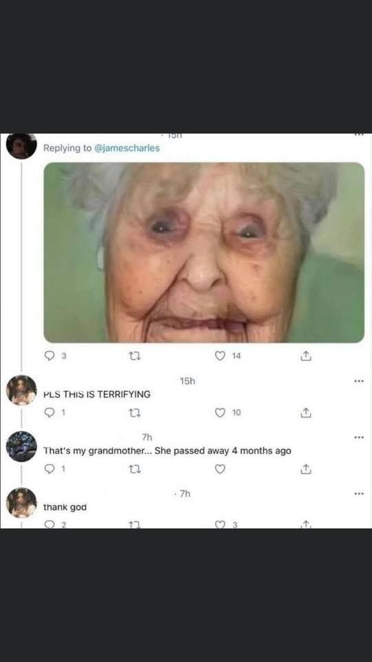 "Write ""thank god"" in the comments if you don't want to become this grandma"