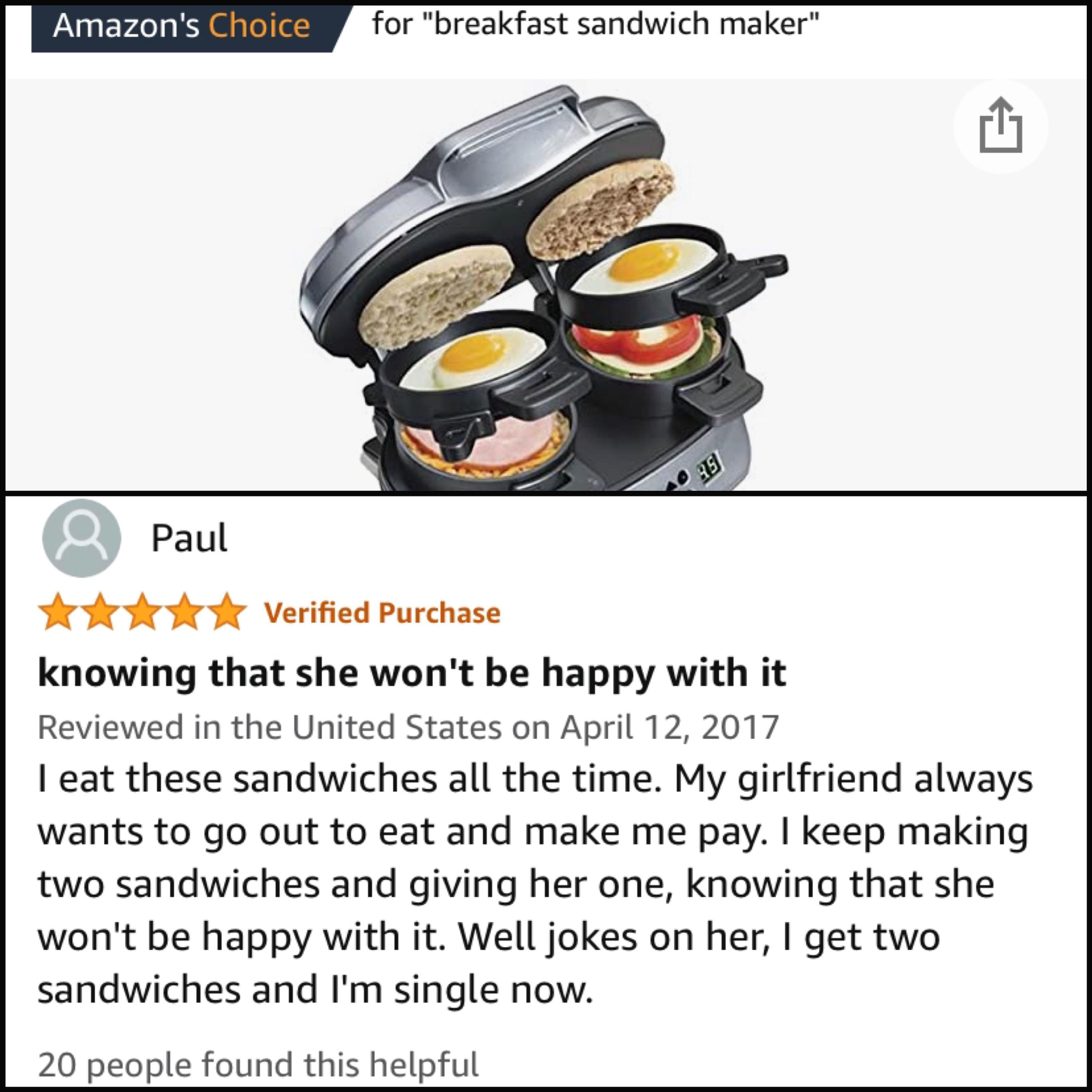 Was looking for a sandwich maker, MVP Paul has sold me on this one