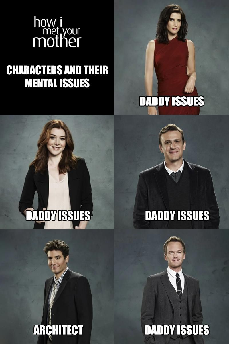 HIMYM characters and their mental issues