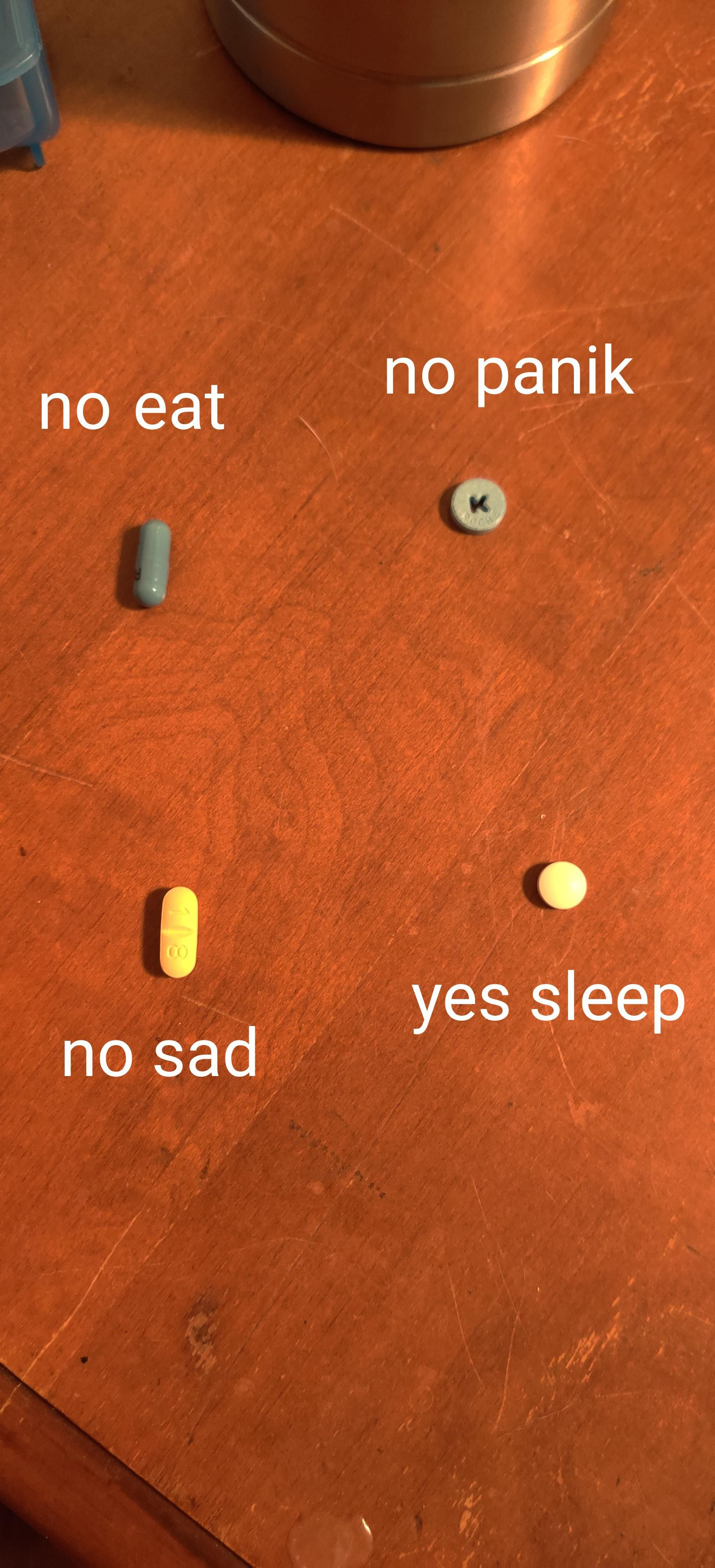 My brother was asking about my meds so I sent him this