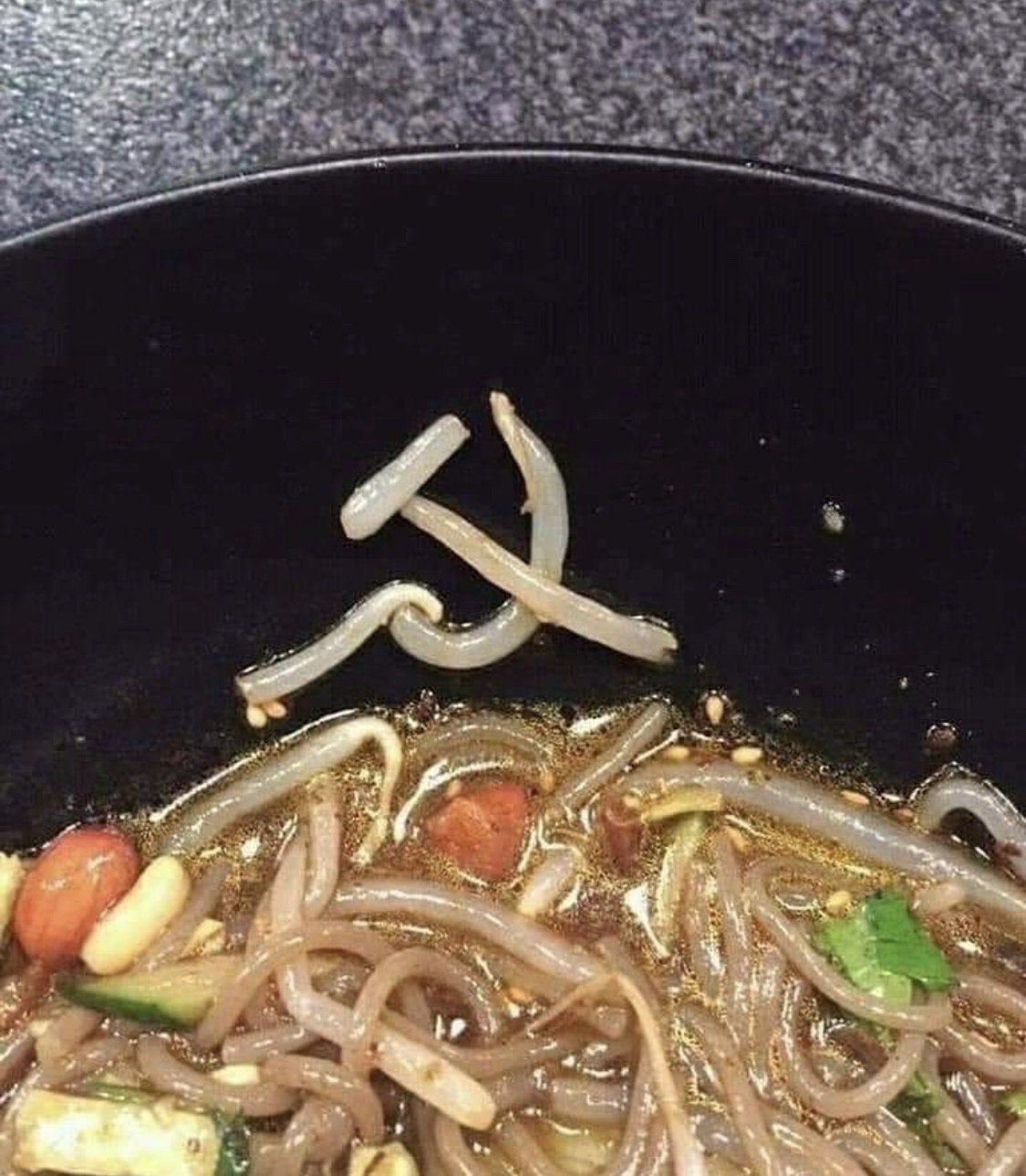 Even the noodles want to be shared.