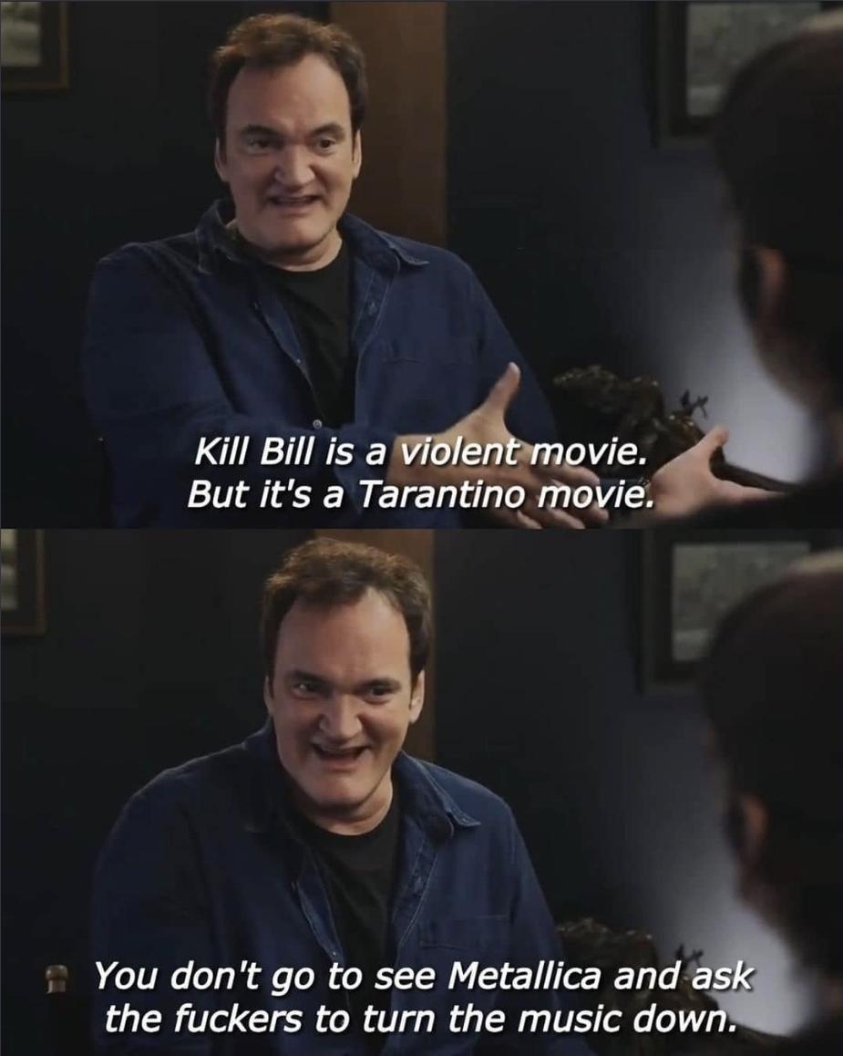 Quentin Tarantino spittin