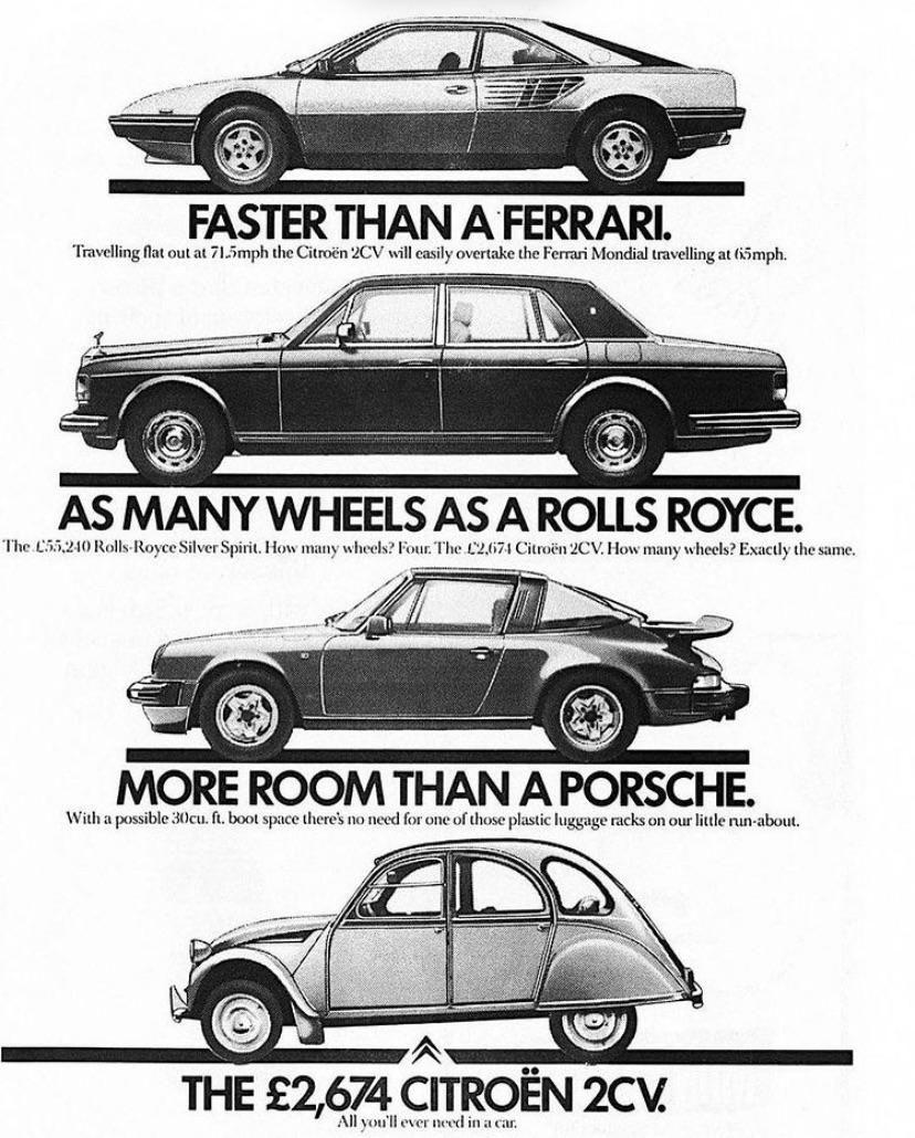 This retro Citroën ad