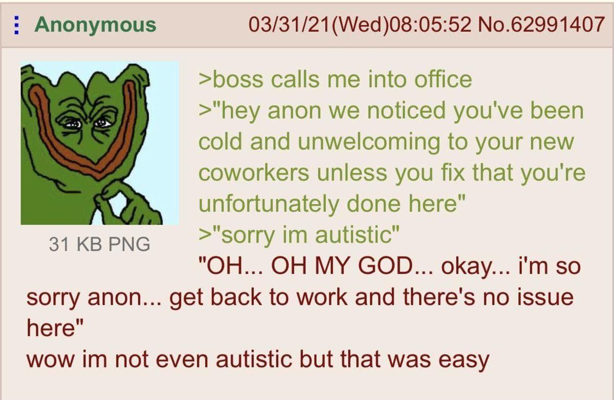 anon is autistic