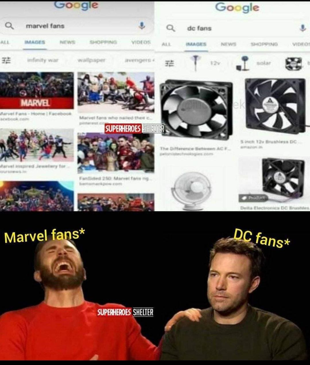 Marvel fans and DC fans