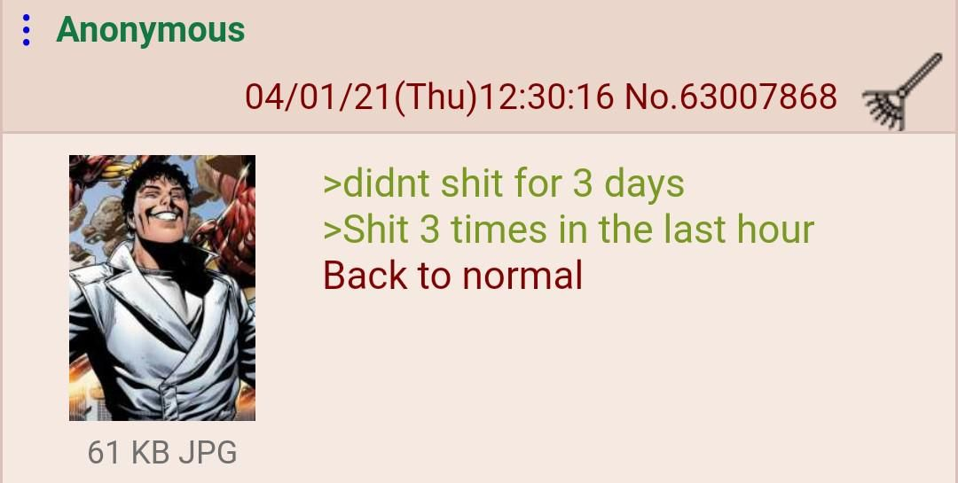 Anon is the keeper of the balance of the universe
