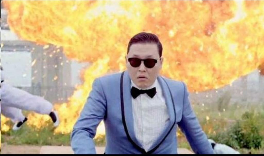 Kim Jong Un moments after a failed missile launch, 2015