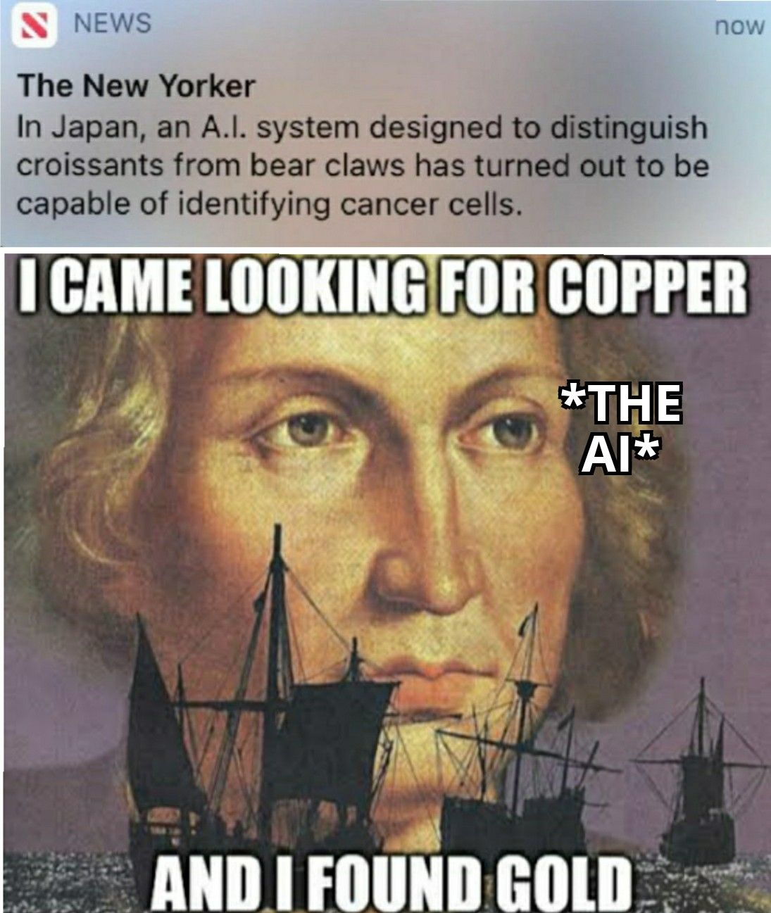 The A.I should be called Christopher Columbus