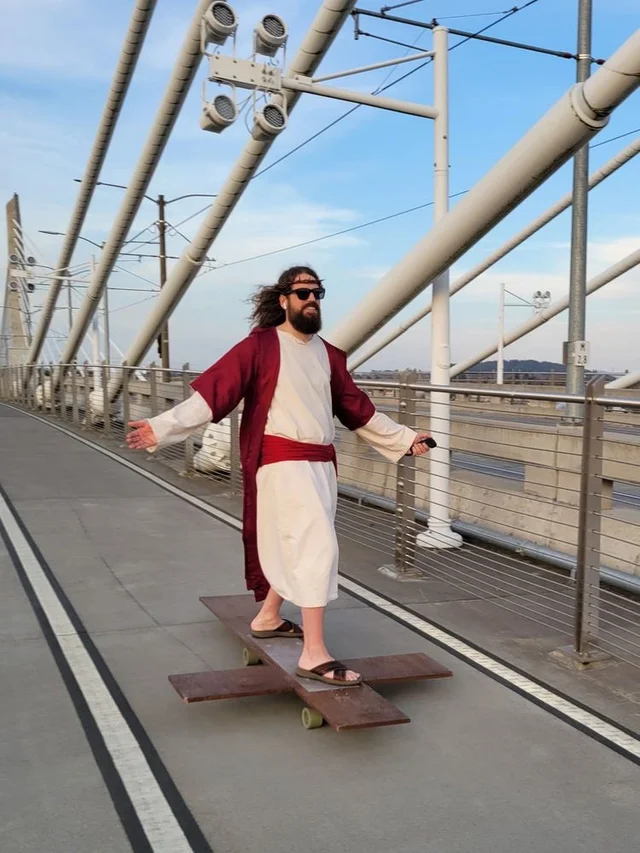Jesus Christ rolling out of the tomb after being dead for three days, 33 AD