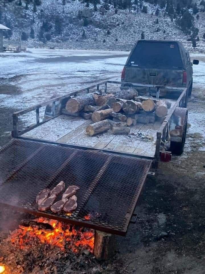 Redneck barbecue grill.